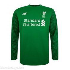 31d236b83 Eurojerseys.net Liverpool 2017-18 Home Green Goalkeeper Long Sleeved  Football Shirt Soccer Jersey