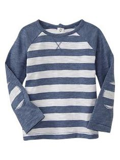 So cute! Lovin' the elbow patches! Striped knit shirt   Gap