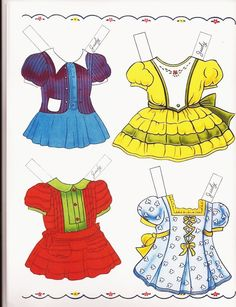 Clothes for paper dolls, my favorite things!!