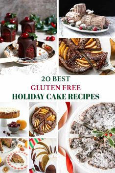 20 Best gluten free holiday cake recipes for Christmas! Find paleo cake, vegan cake, gluten free yule logs, gluten free gingerbread cake and more. Holiday Cakes, Holiday Desserts, Gluten Free Gingerbread, Gingerbread Cake, Christmas Cooking, Diy Christmas, Christmas Breakfast, Gluten Free Cakes, Cake Toppings