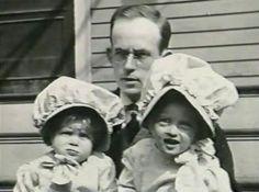 "Harlow Davis, father & Bette Davis & sister, Barbara ""Bobby"""