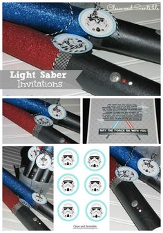 I am starting to get going on plans for Connor's 6th birthday and realized that I never got around to posting a final recap on his Star Wars Party from last year! I thought that I would put everything together for you in one post to make everything easier to find… Invitations are a fun …