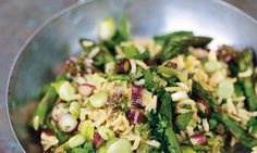 Pilaf of Asparagus, broad beans and mint - Nigel Slater