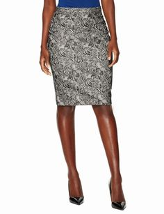 Lace Print Pencil Skirt - The Limited
