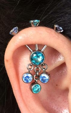 3 point ear project by casey wardell. Jewelry by Industrial strength.