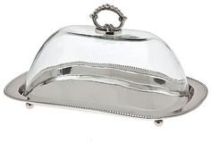 Oval Tray & Glass Dome, Nickel  GODINGER Sale $45.00  $70.00 Retail