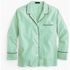 e4d656699a J.Crew Striped Pajama Shirt ( 66) ❤ liked on Polyvore featuring intimates