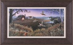 Evening Harvest by Mark Daehlin Framed Painting Print