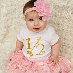 Arrow 1/2 Half Birthday Shirt Gold Glitter Arrow by SweetTeezLLC