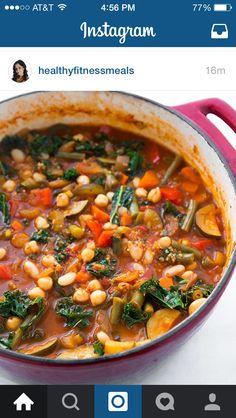 Kale and quinoa soup