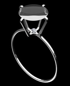 """Trompe l'oeil Ring by Edouard Larmaraud - for the """"A little bit of humor in jewelry"""" competition Black Diamond Engagement, Platinum Engagement Rings, Designer Engagement Rings, Jewelry Art, Jewelry Design, Unique Jewelry, Contemporary Jewellery, Contemporary Design, Art Design"""