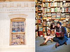 capitol hill bookstore washington dc engagement pictures (13)