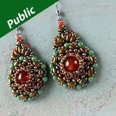 Kashmir Earrings Using SuperDuo Beads, Seed Beads and Matubos