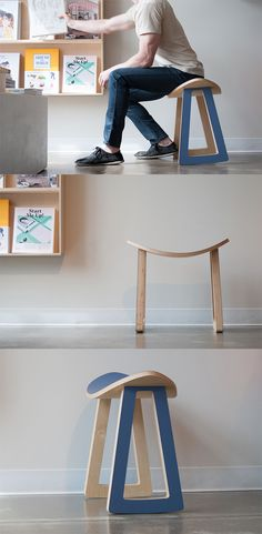 The adorably simple 'Rolo rocking stool' is as utilitarian as it is playful, its clever construction adds a bit of functionality to an otherwise basic design in the form of slightly rounded feet that allow for a safe tilt and stable resting position... READ MORE at Yanko Design !