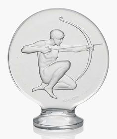 An Archer car mascot, no. 1126. Designed 1926. 4¾ in (12 cm) high. Estimate £1,000-1,500. This lot is offered in Lalique on 16 May 2017 at Christie's in London, South Kensington