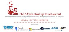 Weekend Ventures Mumbai – 54Hr Startup Launch Event from Sept. 27-29, 2013