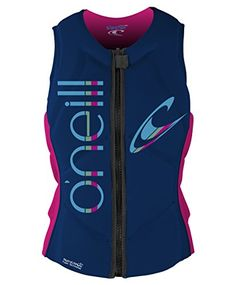 O'Neill Wetsuits Wake Waterski Womens Slasher Competition Life Vest, Cobalt/Berry, 16 >>> You can find out more details at the link of the image.