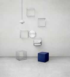 The Panton Wire by Verner Panton. Elegant, almost invisible storage or display. #montana #furniture #danishdesign #furniture #storage #interior #inspiration #interiordesign #indretning #inredning #einrichtung #shelf #bookcase #verner #panton #wire #steel