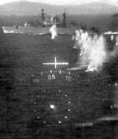 Malvinas photo from footage shot through the HUD of an Argentine Dagger Naval History, Military History, Military Weapons, Military Aircraft, Falklands War, Modern History, Submarines, Aircraft Carrier, Royal Navy