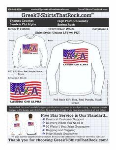 Patriotic Lambda Chi Alpha shirt! http://www.greekt-shirtsthatrock.com
