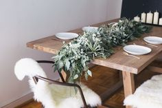 Eucalyptus table garland DIY