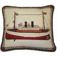 Needlepoint Pillow - Boat