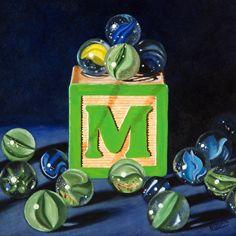 Karen Budan   OIL                                  M is for Marbles