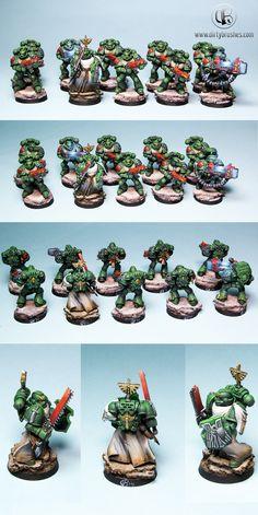 40k - Dark Angels Tactical Squad by petran