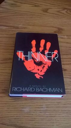 THINNER, STEPHEN KING (BACHMAN), NAL,1984 *FIRST EDITION* BC, HC&DJ, VINTAGE, VG