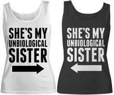 Women's Unbiological Sister Best Friend Cotton Tank Top