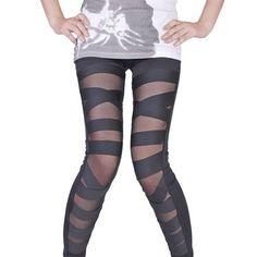 Punk Cross Straps Leggings by Addmein on Etsy, $24.99