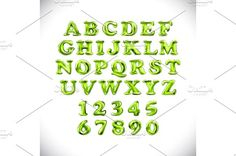 balloons English alphabet vector by Rommeo79 on @creativemarket