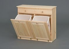 double trash cabinet - Google Search