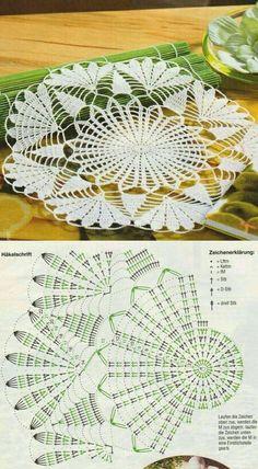 Free Crochet Doily Patterns, Crochet Doily Diagram, Crochet Mandala, Filet Crochet, Irish Crochet, Crochet Doilies, Crochet Table Runner, Crochet Tablecloth, Crochet Home