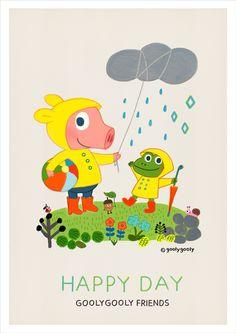 - 비오는날의 하루 -  데이지와 포비에게 오늘같이 비가 오는 날에는 뭔가 신나는 일이 생길것 같아요.  -굴리굴리 프렌즈 - GOOLYGOOLY FRIENDS   ----------------------------------------------------  < 모바일/PC 바탕화면 다운받기 >  GOOLYGOOLY FRIENDS >> download http://grafolio.net/<wbr />illustration/<wbr />wallpaper.grfl?projectNo=27<wbr />723