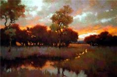 Witness to the Sunset by Teresa Saia Pastel ~ 24 x 36