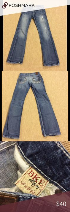 BKE Stella Boot Stretch Big Stitch Jeans 27 In excellent preowned condition, inseam 31 1/2 BKE Jeans Boot Cut