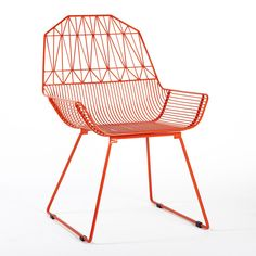 Bend's indoor/outdoor seating is one of my personal faves, especially this chair called the Farmhouse. I just love this fire orange color.
