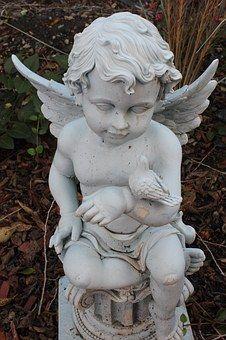 Cherub, Child, Statue, Sculpture