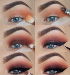 60 Easy Eye Makeup Tutorial For Beginners Step By Step Ideas(Eyebrow& Eyeshadow)., 60 Easy Eye Makeup Tutorial For Beginners Step By Step Ideas(Eyebrow& Eyeshadow). 60 Easy Eye Makeup Tutorial For Beginners Step By Step Ideas(Eyebr. Bronze Eye Makeup, Smokey Eye Makeup, Makeup Eyeshadow, Eyeshadow Ideas, Eyeshadow Palette, Eyeshadow Makeup Tutorial, Eyeshadow With Tape, Makeup Pictorial, Makeup Monolid