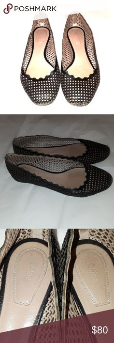 🎉SALE 🎉Chloe ballet flats 37.5  🎀 HOST PICK 🎀 Chloe ballet flats size 37.5 made in Italy. Ballet flats are in used condition with signs of wear. Front of flats have signs of wear as well the back of shoes have signs of wear some missing color. Inside of flats are in used condition. These flats are gorgeous and are very comfortable and look chic. Bottom of shoes have signs of wear as seen in pictures. One ballet flat has marker as seen in picture overall used condition Chloe Flats…