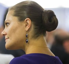 Pregnant Princess Victoria and Prince Daniel at French-Swedish Business Forum