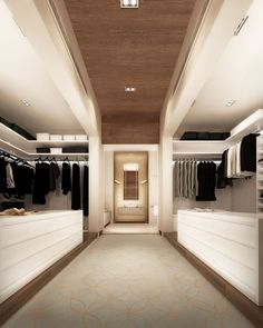 Incredible white and cream walk-in closet design