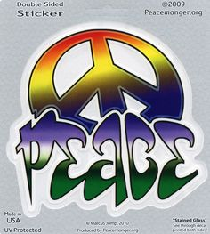 Tagged Peace Sign Art Decal Window Sticker