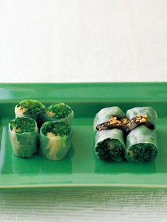 和の趣を感じる生春巻き。甘めのピーナッツソースが、野菜の爽やかなほろ苦さと相性抜群。|『ELLE a table』はおしゃれで簡単なレシピが満載!