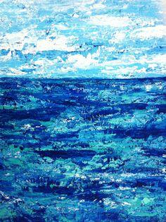 Mar de Sargazos - acrílico sobre macocel - recompensa para proyecto Ríos de Piedra en #TransformadoraCiel
