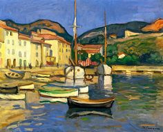 bofransson:    Charles Camoin Harbour of Cassis with Two Tartanes ca. 1905