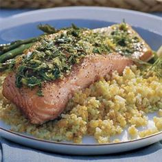 Top simple cedar-grilled fillets with a bright combination of lemon, dill, and parsley, then pair with a green salad for a meal that's pure summer on a plate.