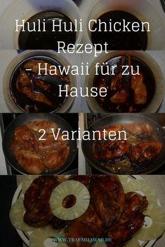 Das Huli-Huli Chicken ist wohl das berühmteste Hähnchen aus Hawaii, mal abgesehen von Heihei von Moana. Aber das Huli Huli Chicken ist zum Essen da und es wird Deine Art Hähnchen zu marinieren verändern. Denn mit diesem Rezept bekommst Du nicht nur ein Stück Hawaii auf Deinen Teller, sondern auch noch eines der leckersten Wege Hähnchen zu essen.  #TraumHawaii #hulihulichicken #hawaiianischkochen Huli Huli Chicken, Kauai Hawaii, Oahu, Beste Hotels, Kiss The Cook, Big Island Hawaii, Bbq, Clean Eating, Food And Drink
