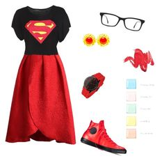 """""""'Superwoman'"""" by swlafangirl ❤ liked on Polyvore featuring art"""